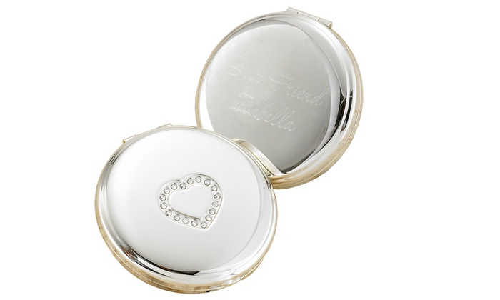 A Gift Personalized: $5 for Personalized Silver Plated Compact fromA Gift Personalized ($24.99 value)