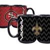 NFL Black Chevron Mugs (2-Pack)