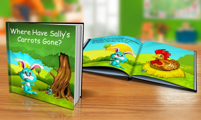 "Dinkleboo: $9 or $14 for Softcover or Hardcover ""Where Have My Carrots Gone"" Personalized Kids Book from Dinkleboo (Up to 65% Off)"