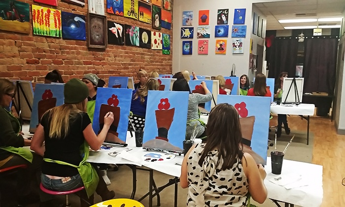 Liquid Canvas - Ogden Central Business District: Painting Class or Party for Adults or Kids at Liquid Canvas (Up to 50% Off). Four Options Available.