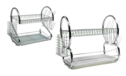 8-Shaped or S-Shaped 17 In. 2-Tier Dish Rack. Free Returns.