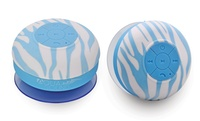 Aduro AQUA Sound Bluetooth Shower Speaker with Mic and Controls (Blue Zebra)