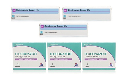 Clotrimazole Cream ThreePack, Fluconazole Capsules ThreePack or Both