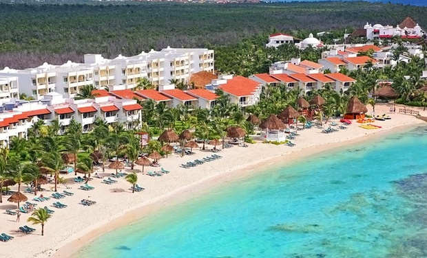 TripAlertz wants you to check out 4, 5, or 7 All-Inclusive Nights for Two at El Dorado Seaside Suites, by Karisma in Mexico. Includes Taxes & Hotel Fees. 4-Star All-Inclusive Beach Resort in Mexico - All-Inclusive Mexican Resort