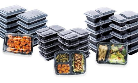 Reusable Bento Box Food Storage Container Set (10-, 20-, or 40-Piece)