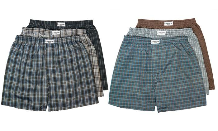 Jordache Men's Plaid Boxers (6-Pack): Jordache Men's Plaid Boxers (6-Pack)