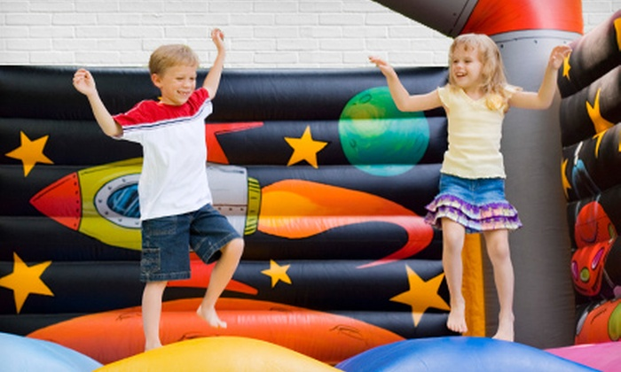Get Bounce - Fort Worth: All-Day Bounce-House Rental or Inflatable-Rock-Climbing-Wall Rental for Four Hours from Get Bounce (Up to 54% Off)
