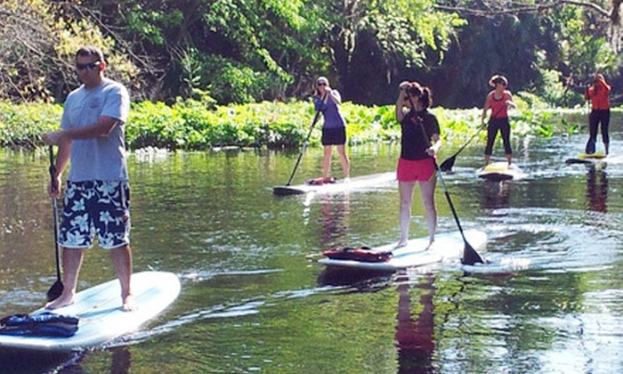 Central Florida Paddleboarding - Multiple Locations: 90-Minute Standup-Paddleboard Lesson or Eco Tour for One, Two, or Four at Central Florida Paddleboarding (Up to 54% Off)