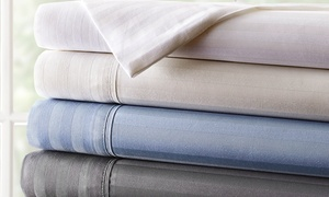 Special Price 800TC Hotel New York Egyptian-Cotton Dobby Stripe Sheet Sets: Special Price 800-Thread-Count Hotel New York Egyptian-Cotton-Rich Dobby Stripe Sheet Sets