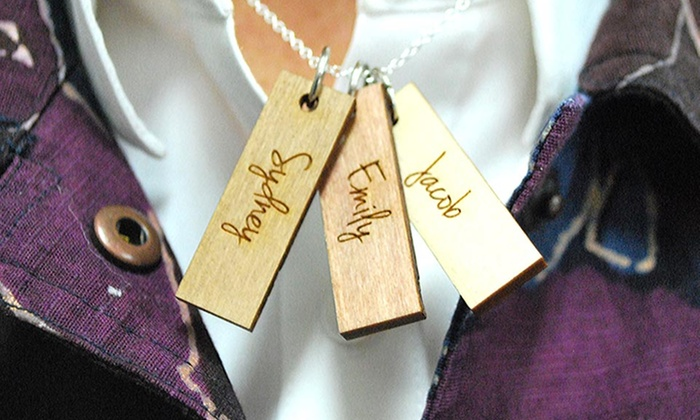LilyDeal: One or Two Custom Wood Charm Necklaces from LilyDeal.com (Up to 80% Off)