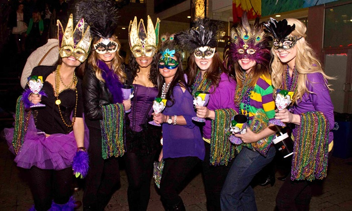 Charlotte Mardi Gras Parade of Beads - Rooftop 210: Two or Four Groupons, Each Good for a VIP Ticket to the Charlotte Mardi Gras Parade of Beads (53% Off)