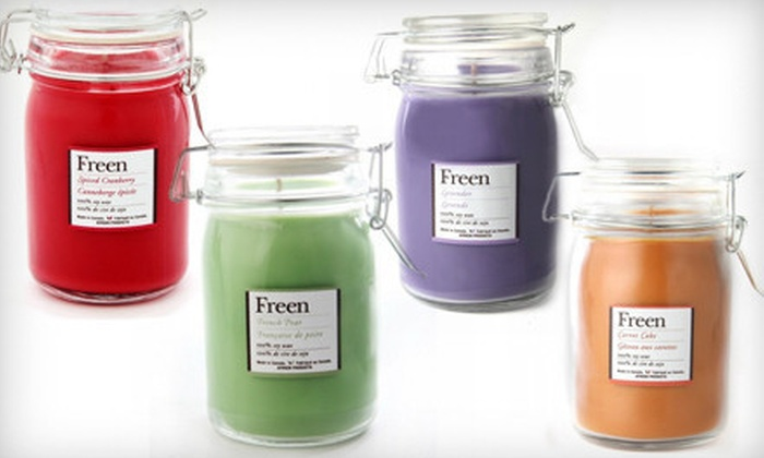 Freen: $10 for an Eco-Friendly Candle Set from Freen ($20.90 Value)