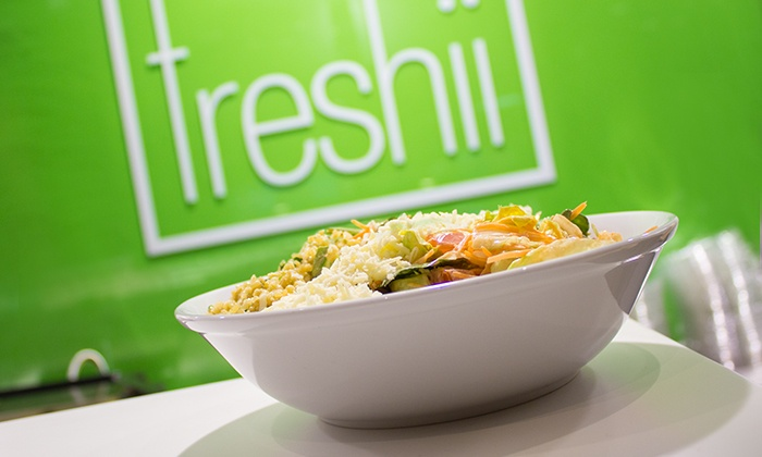 Freshii - Freshii: Two Entrees and Juices or Three Groupons, Each Good for $8 Worth of Healthy Food at Freshii (Up to 41% Off)