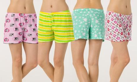 Love 2 Sleep Women's Printed Lounge Shorts (4-Pack)