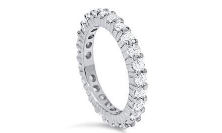 1.00 CTTW Diamond Eternity Ring in 14K White Gold by Bliss Diamond