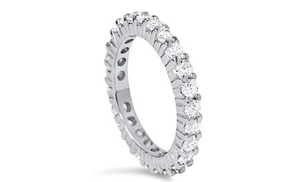 1.00 CTTW Diamond Eternity Ring in 14K White Gold by Bliss Diamond
