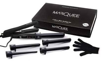 Image Placeholder For MarQuee Beauty Flat Iron And Curling Set 8 Piece