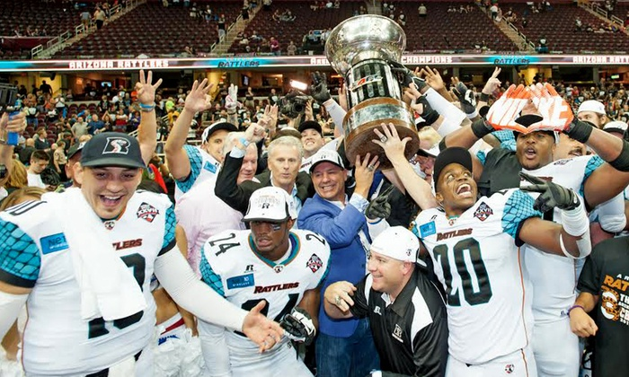 Arizona Rattlers vs. San Jose SaberCats - Talking Stick Resort Arena: Arizona Rattlers Arena-Football Game at US Airways Center on Saturday, May 2, at 6 p.m. (40% Off). Two Seating Options.