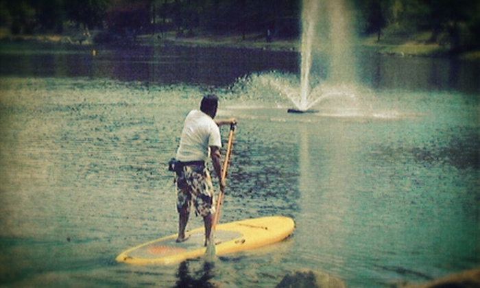 Black Mountain Paddle Board Co. - Grovestone: One-Hour Standup-Paddleboarding Lesson for One or Two at Black Mountain Paddle Board Co. (Half Off)