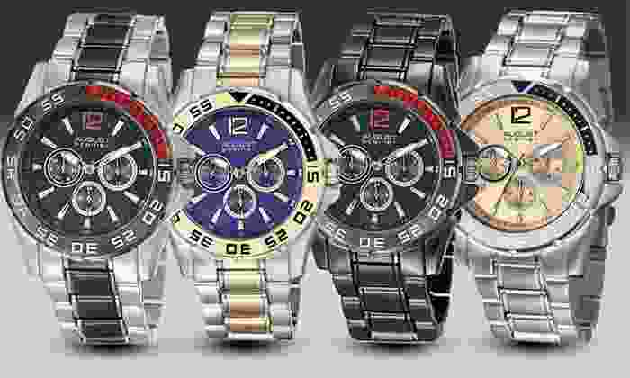 August Steiner Men's Bracelet Watches: August Steiner Men's Multifunction Bracelet Watches. Multiple Styles Available.