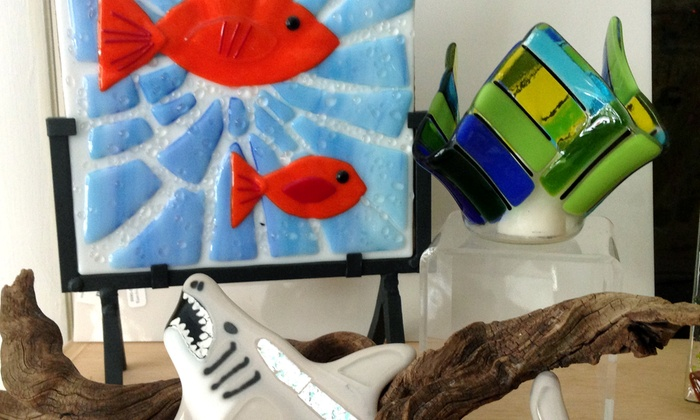 Busy Bees Pottery & Arts Studio - Bensalem: Intro to Glass Fusion for One or Two at Busy Bees Pottery & Arts Studio (50% Off)