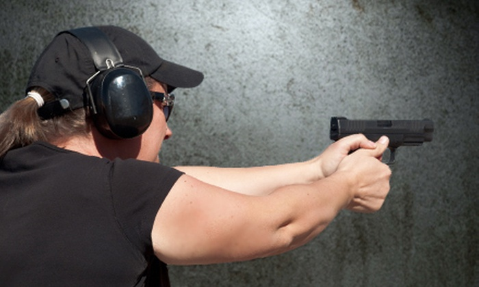 Sharp Shooting Indoor Range & Gun Shop - Chief Garry Park: $40 for a Shooting-Range Outing for Two at Sharp Shooting Indoor Range & Gun Shop ($81 Value)