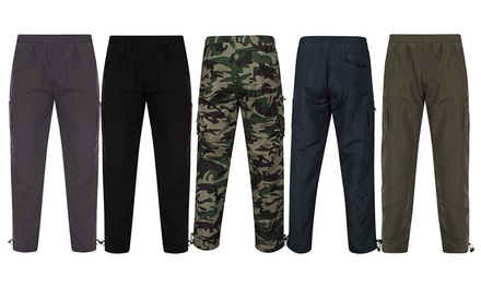 Men's Fleece Lined Combat Trousers for £10