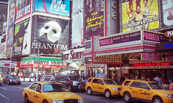 Manhattan Walking Tour - Clinton: One-Hour Times Square Walking Tours for One, Two, or Four from Manhattan Walking Tour (Up to 65% Off)