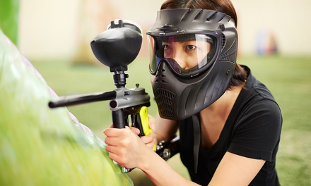 Paintballing Package with Protective Masks and Markers for 4, 6, 8, or 12 at Funagin's (Up to 81% Off)