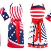 American Flag-Themed Apron, Oven Mitt, and Dish Towel Set