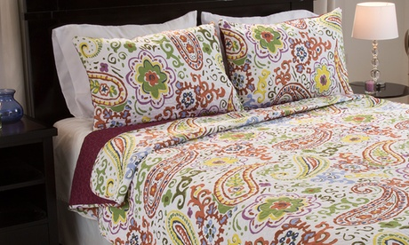 Cotton Printed Quilt Sets (2- or 3-Piece)