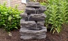 Pure Garden Outdoor Water Fountain with Cascading Waterfall
