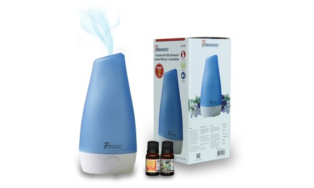 Ultrasonic Aroma Diffuser and Humidifier with 2 Scented Oils
