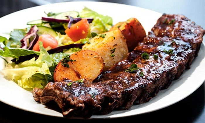 Purple Olive Grill - West End: Three-Course Dinner for Two, Valid Sunday–Thursday or Friday–Saturday at Purple Olive Grill (Up to 48% Off)