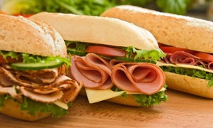 Subway: $13 for Four Groupons, Each Good for $5 Toward Sandwiches, Sides, and Drinks at Subway ($20 Value)