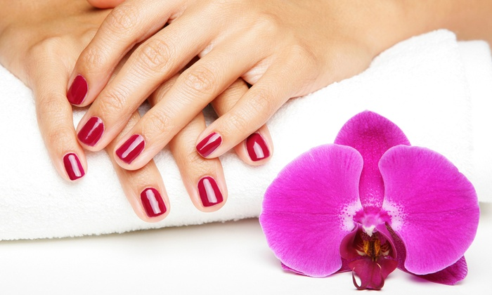 Panache Aveda Hair Studio & Day Spa - Multiple Locations: Signature Mani, Signature Pedi, or Signature Mani-Pedi at Panache Aveda Hair Studio & Day Spa (Up to 53% Off)