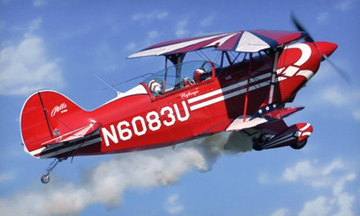 CA Aerobatics - Northridge: Acrobatic Airplane Flight with Photo and Video for One or Two from CA Aerobatics (Up to 68% Off)