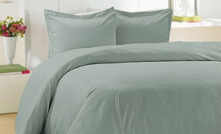 Essentially Home Living 3-Piece Microfiber Duvet Set. Multiple Options Available from $24.99–$27.99.