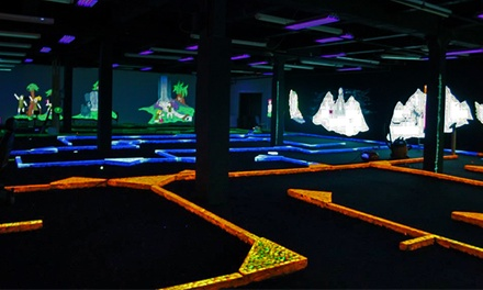 5 or 10 Rounds of Glow-in-the-Dark Mini Golf at Adventurers Mini Golf (Up to 47% Off)