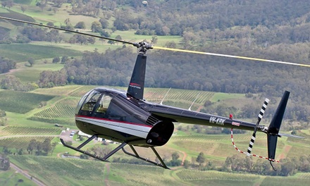 $330 for a Scenic Helicopter Flight for Up to Three People with Hunter Valley Helicopters Up to $430 Value