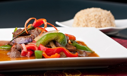 Three-Course Thai Meal with Drinks for Two ($35) or Four People ($70) at I Rich Thai, Drummoyne (Up to $162 Value)