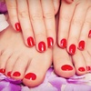 Up to 58% Off Shellac Mani with Pedi