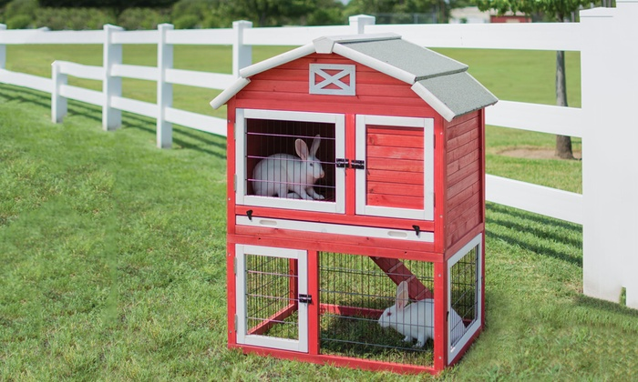 Red Barn Rabbit Hutch Groupon Goods