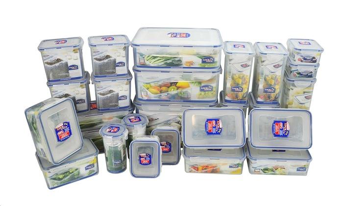 Lock lock storage container set groupon for Kitchen set groupon