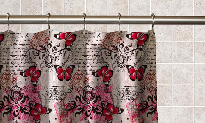 Curtains Ideas butterfly shower curtain : Butterfly Collage Shower Curtain | Groupon Goods