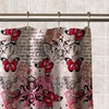 Butterfly Collage Pattern PEVA Shower Curtain
