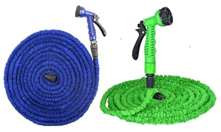 Expandable garden hose feihoo ezglobal outlets groupon for Gardening 4 less groupon