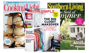 1-year Subscription To Real Simple, Instyle, Cooking Light, And Other Lifestyle Magazines