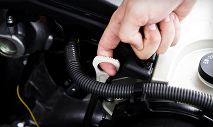 South Oak Dodge, Chrysler, Jeep, Ram - Misty Pines: Oil Change at South Oak Dodge, Chrysler, Jeep, Ram in Matteson (Up to 61% Off). Four Options Available.