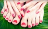 Michelle Hair Design - Villages Of Langham Creek: One Deluxe Spa or Shellac Manicure with Spa Pedicure, or One Shellac Manicure at Michelle Salon & Spa (Up to 62% Off)